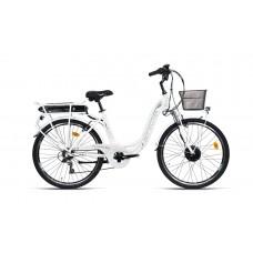 "Bottecchia Bicicletta Pedalata Assistita - BE11 E-Bike TRK Lady 26"" - TY21 6S Carrier Battery - 2 Colori"