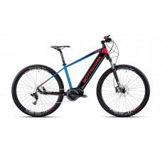"""Bottecchia Bicicletta Pedalata Assistita - BE31 Krypton E-MTB Front - 29"""" - 9S - Bafang Max Drive - Nero/Blu/Rosso"""