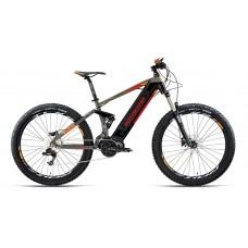 "Bottecchia Bicicletta Pedalata Assistita - BE35 Elektron E-Full Suspended - 27,5"" - Middle Motor - Arancione"
