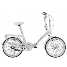"""Bicicletta Graziella Originale Pieghevole - Graziella 20"""" - Mod. BRIGITTE Col. Bianco/Nocciola"""