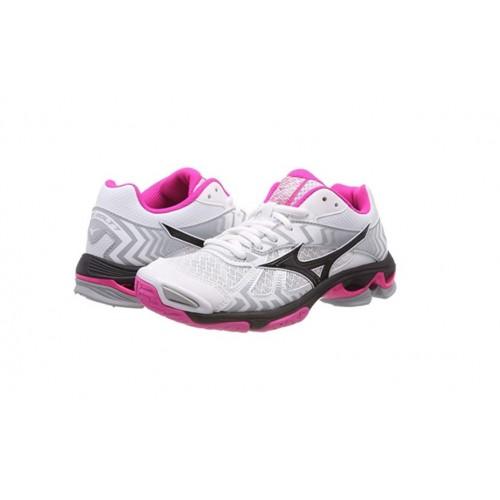 buy online 5deba b30eb Mizuno Scarpe Pallavolo Donna - Wave Bolt 7 - Bianco/Nero/Fucsia